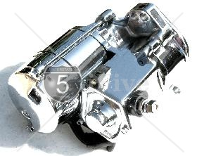 1.2 KW High Torque Big Twin Starter 1989-93 Chrome Finish