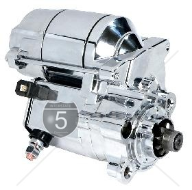 1.4 KW High Torque SPORTSTER Starter 1981-PRESENT All Chrome Finish