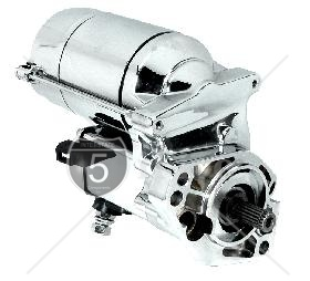 1.8 KW High Torque Big Twin Starter 1989-1993 Chrome Finish